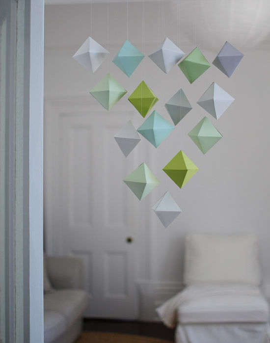 Mobiles In Geometric Shapes