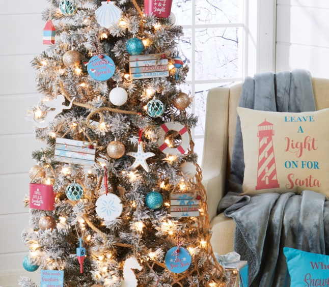 The Delicacy Of Ornaments For Christmas Tree With Shades Of Blue
