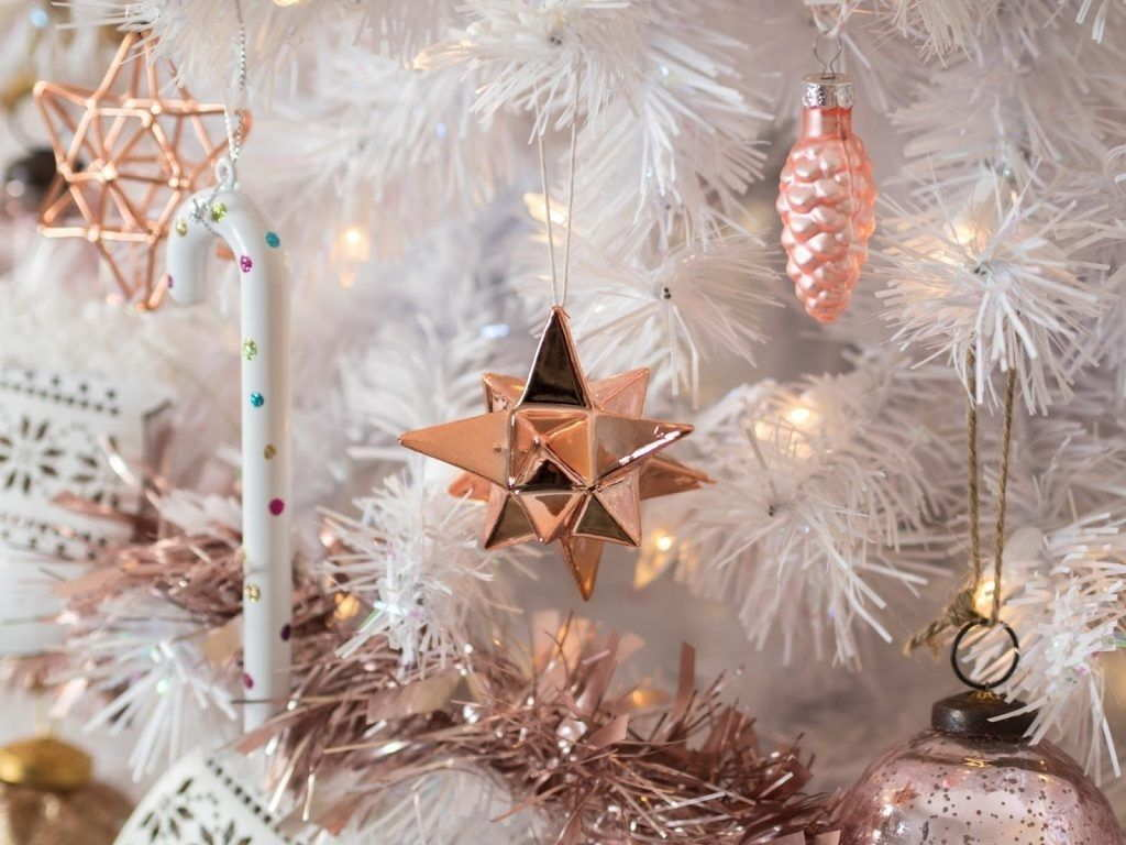 Ornaments For Christmas Tree Rose Gold