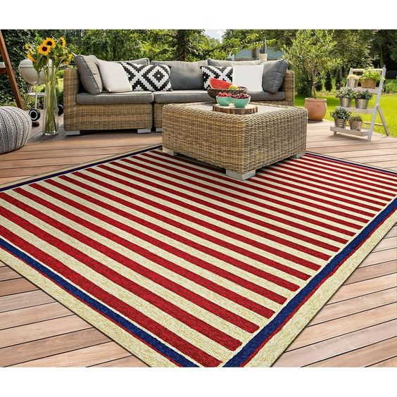 Outdoor Rugs Red