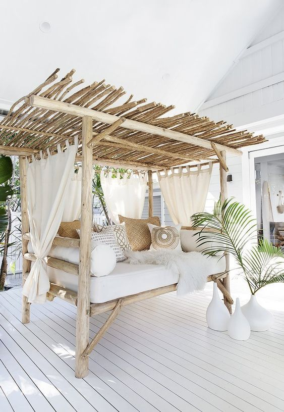 Rustic Patio Ideas With Swings, Statues, And Fountains
