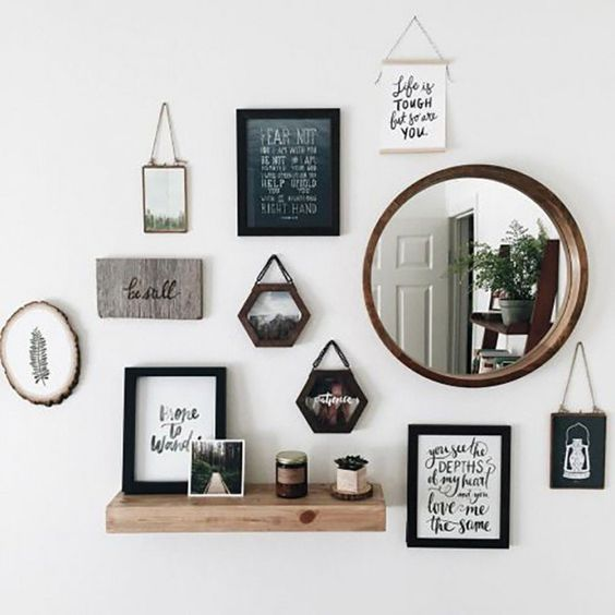 Picture Frames In The Wall