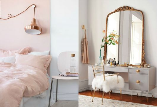 Rose Gold In The Bedroom