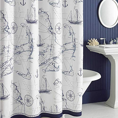 Colors and prints characteristic of the navy decor