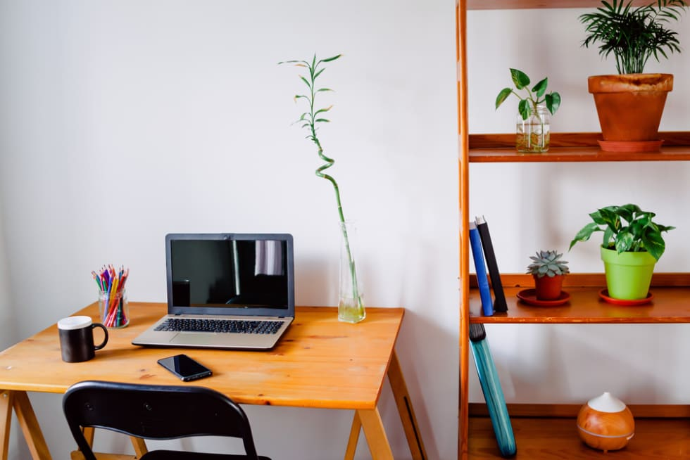 Small Desk Decorated Home Office