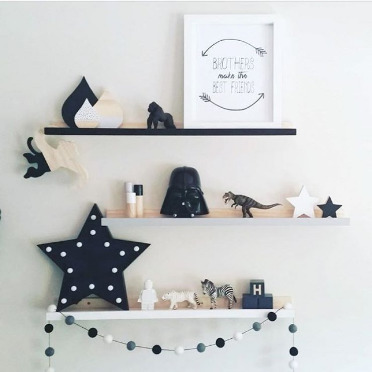 Kids Bedroom with Stars Decor 2