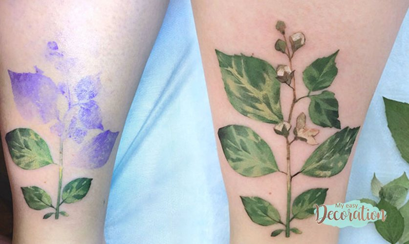 Tattoos of Tobacco Plant Flowers