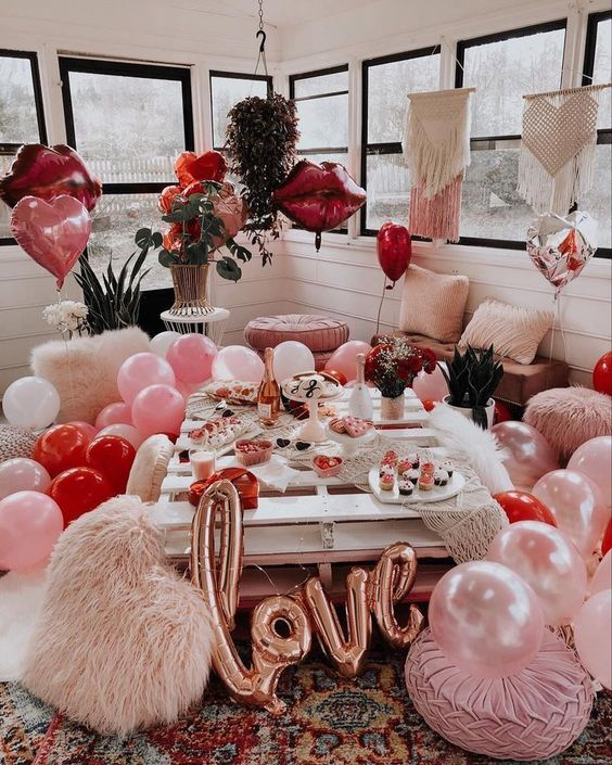 Valentine's Day Decor For Home With Balloons