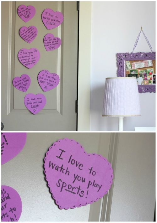 Valenines Day Decor With Love Notes