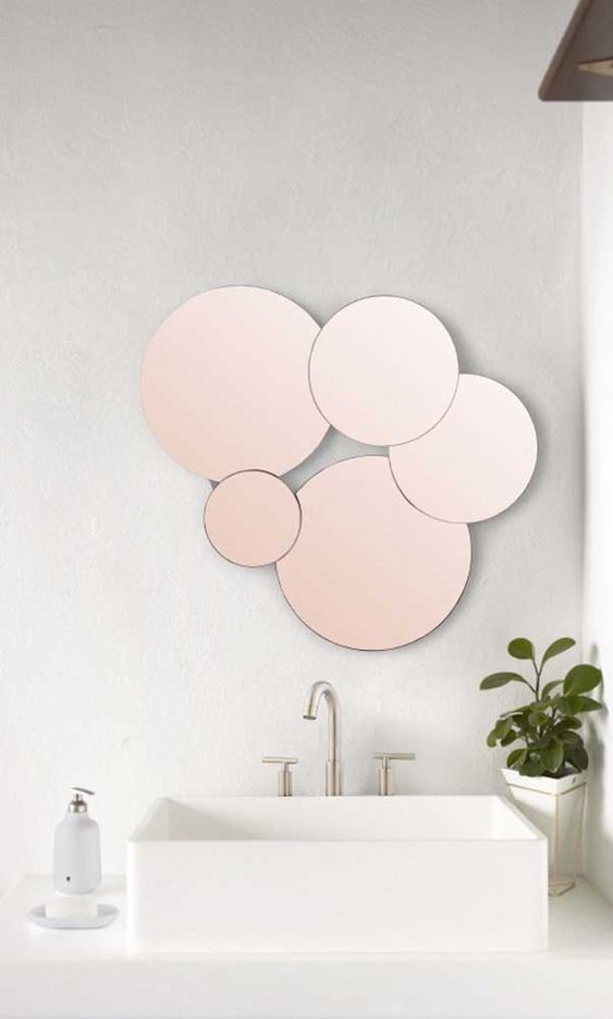 Wall Mirror Panels In The Bathroom