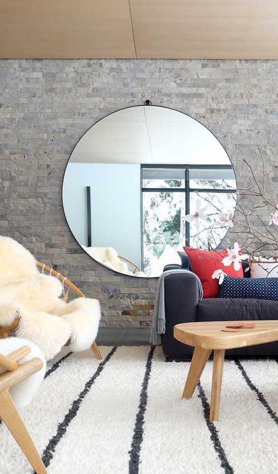 Wall Mirror Large Round