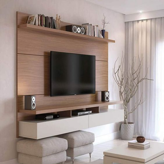 Tv Wall Panel Wooden