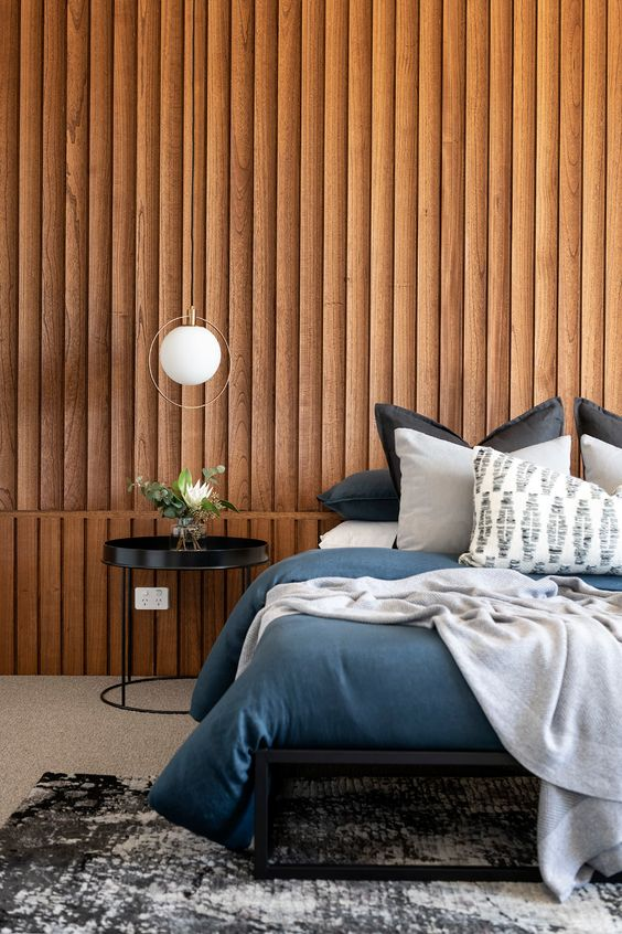 Wood Wall Panel For Bedroom