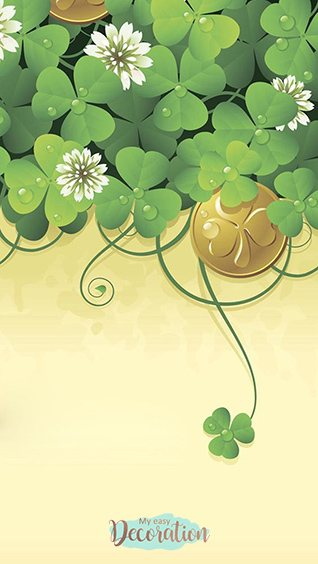 Wallpapers Cute Four Leaf Clover Iphone
