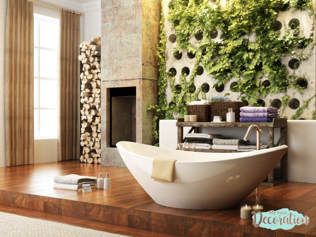 Beauty And Freshness Of The Green Walls In Bathroom