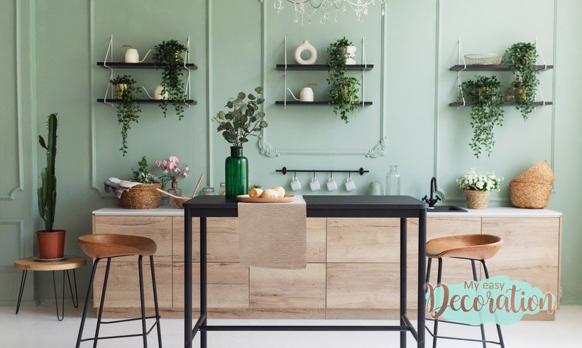 How To Make Green Walls In Kitchen?