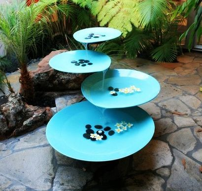 Water Fountain Indoor With Dishes
