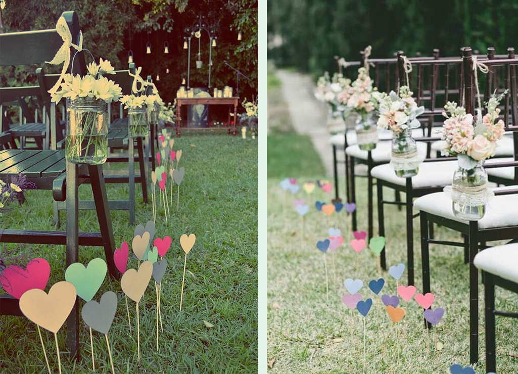 Decorating The Lawn With Hearts