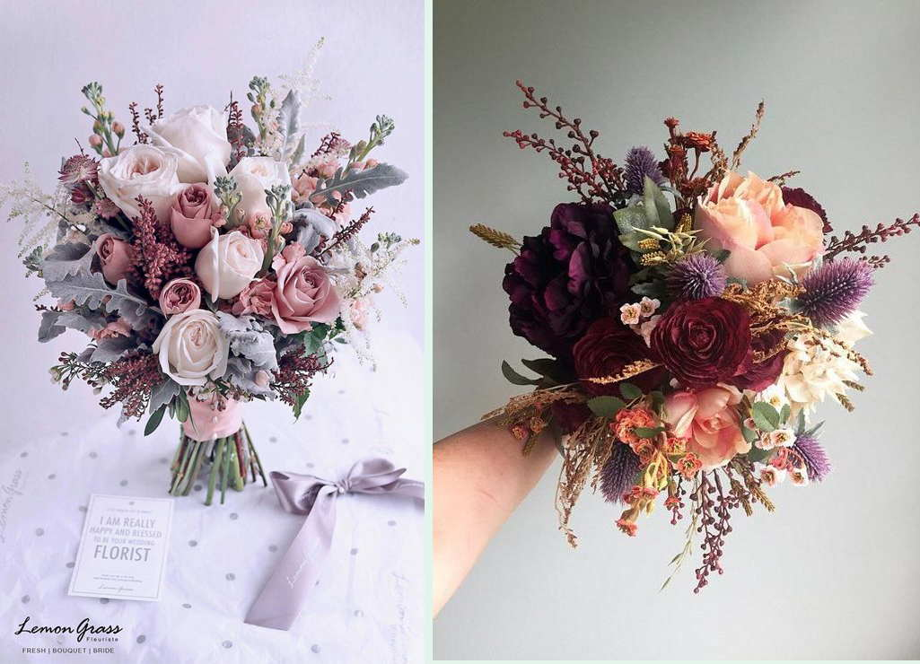 Wedding Decoration With The Wedding Bouquet