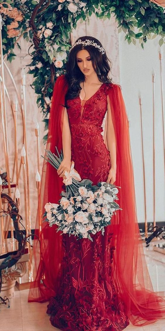 Wedding Dress Colors Red