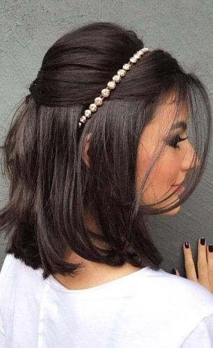 Smooth And Sophisticated Wedding Hairstyles Short Hair