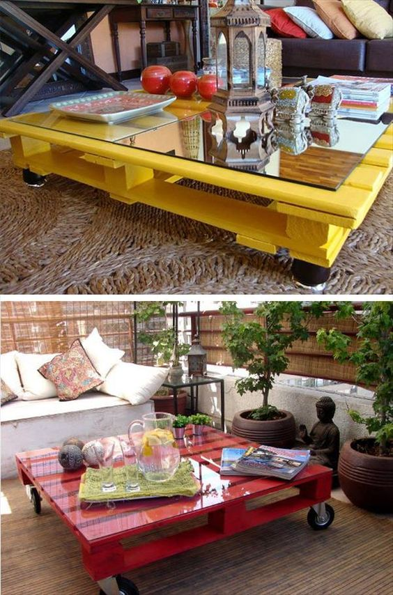 Wooden Crates Center Tables