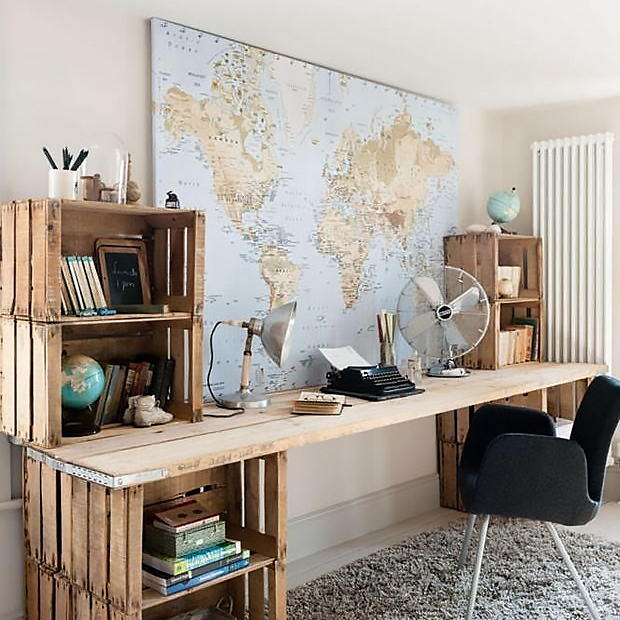 Wooden Crates Office