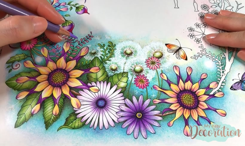 World Of Flowers Finished Pages